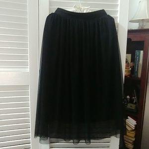 H&M Black Sheer Skirt SIZE 6